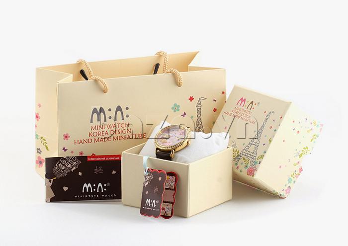 hộp đựng đẹp mắt giúp Đồng hồ nữ Mini MN1093 Mặt thỏ ngộ nghĩnh thích hợp làm quà tặng