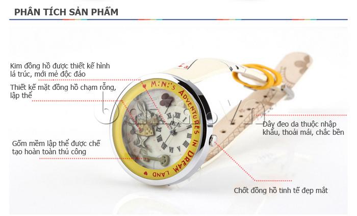 Đồng hồ nữ Mini MN1093 Mặt thỏ ngộ nghĩnh tinh tế, độc đáo, mới lạ