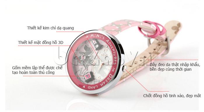Đồng hồ nữ Mini MN1093 Mặt thỏ ngộ nghĩnh thiết kế kim chỉ dạ quang