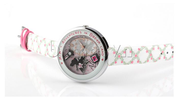 Đồng hồ nữ Mini MN1093 Mặt thỏ ngộ nghĩnh dây da cao cấp, bền đẹp