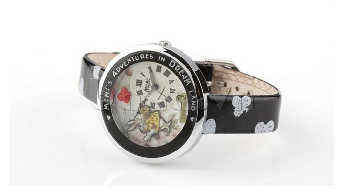 Đồng hồ nữ Mini MN1093 Mặt thỏ ngộ nghĩnh màu đen sang trọng