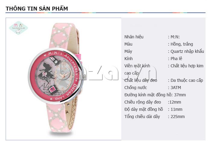 thông tin cụ thể của Đồng hồ nữ Mini MN1093 Mặt thỏ ngộ nghĩnh