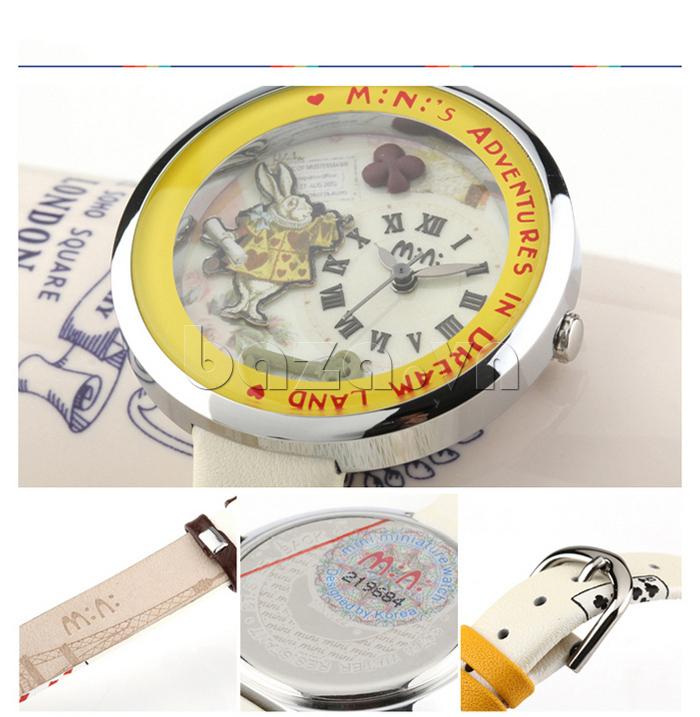 Đồng hồ nữ Mini MN1093 Mặt thỏ ngộ nghĩnh đường viền tinh tế