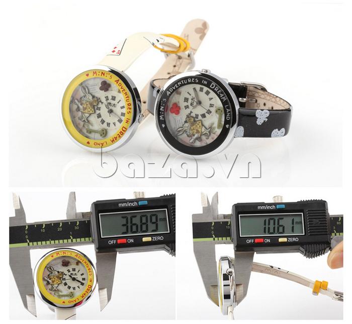Đồng hồ nữ Mini MN1093 Mặt thỏ ngộ nghĩnh mặt tròn tinh tế