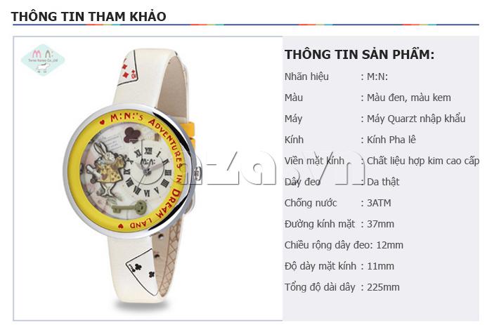 thông tin tham khảo cùng Đồng hồ nữ Mini MN1093 Mặt thỏ ngộ nghĩnh