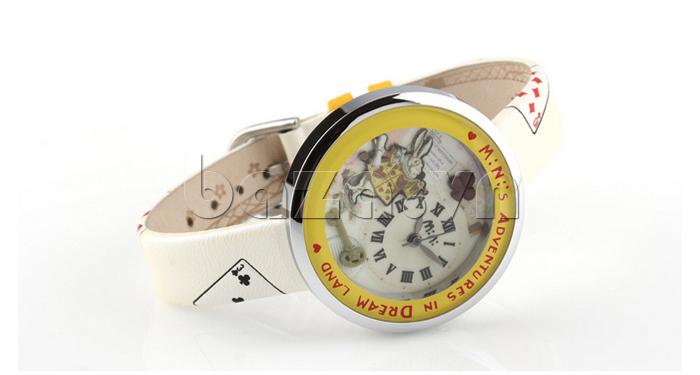 Đồng hồ nữ Mini MN1093 Mặt thỏ ngộ nghĩnh dây da mềm mịn