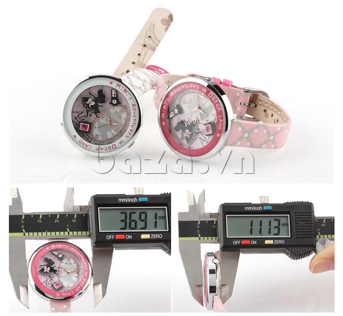 Đồng hồ nữ Mini MN1093 Mặt thỏ ngộ nghĩnh màu sắc đáng yêu