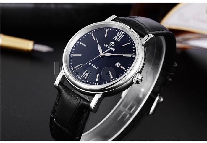 Đồng hồ nam dây da Vinoce 8388G kiểu dáng đơn giản ấn tượng