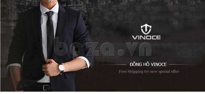 Đồng hồ nam dây da Vinoce 8388G kiểu dáng đơn giản  độc
