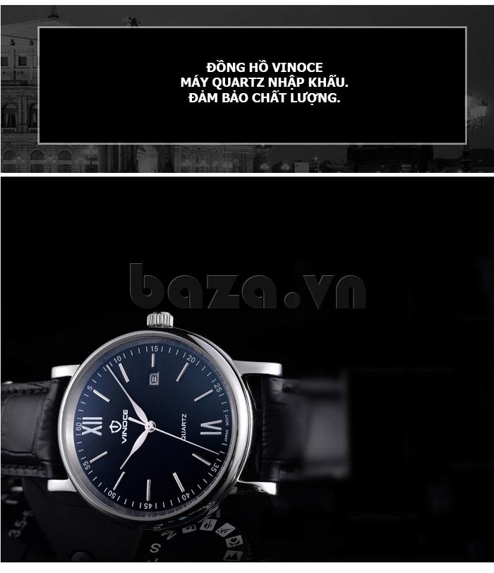 Đồng hồ nam dây da Vinoce 8388G kiểu dáng đơn giản thiết kế hot