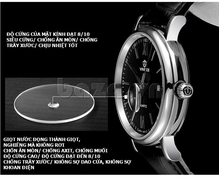 Đồng hồ nam dây da Vinoce 8388G kiểu dáng đơn giản hiện đại