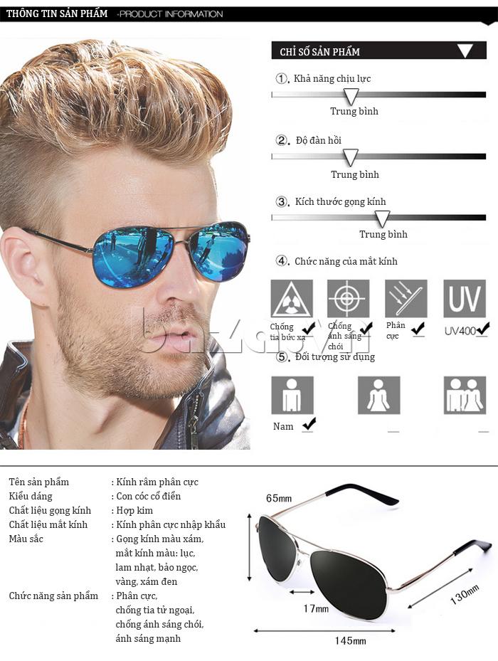 Kính mắt nam Q&J A103 - bảo vệ mắt tối ưu