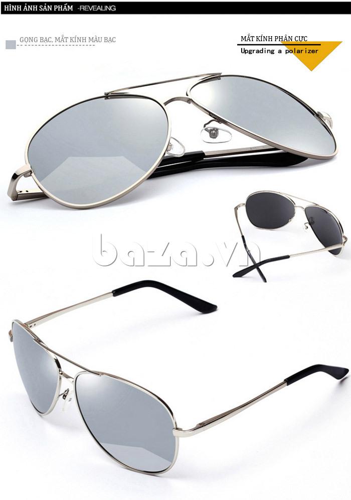 Kính mắt nam Q&J A103 - gọng bạc, mắt kính bạc