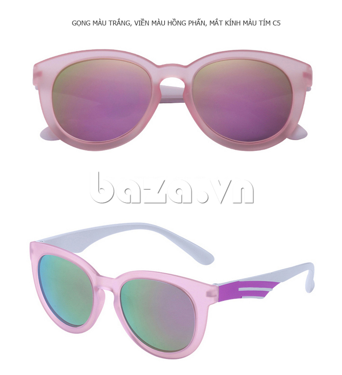Kính mắt Unisex phân cực BLSBlues 15021 màu hồng nữ tính