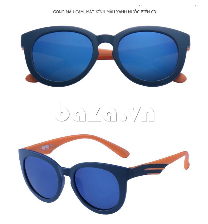 Kính mắt Unisex phân cực BLSBlues 15021 - gọng màu cam cá tính
