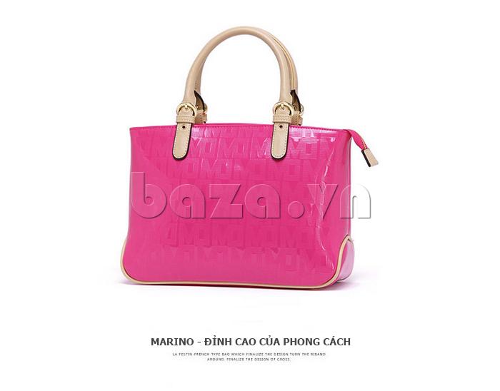 Túi xách nữ Marino Orlandi 7141136 màu hồng mặt trước