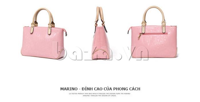 Túi xách nữ Marino Orlandi 7141136 màu pastel các góc độ