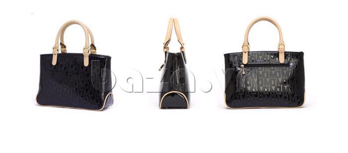 Túi xách nữ Marino Orlandi 7141136 màu đen các góc độ