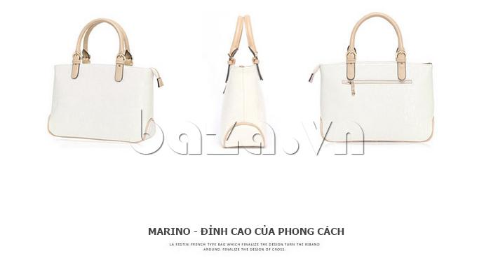 Túi xách nữ Marino Orlandi 7141136 màu trắng các góc độ