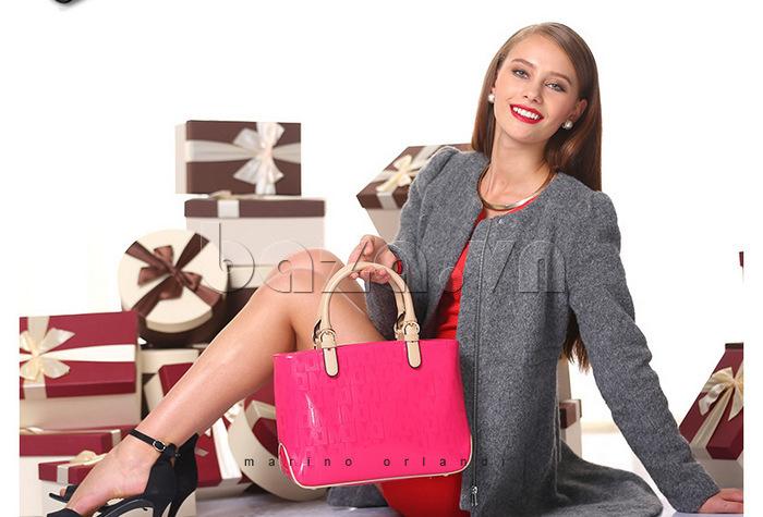 Túi xách nữ Marino Orlandi 7141136 màu hồng cánh sen