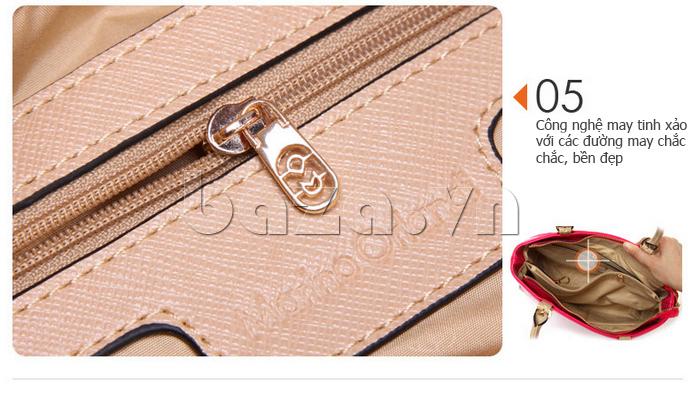 Túi xách nữ Marino Orlandi 7141136 áp dụng công nghệ may tinh tế