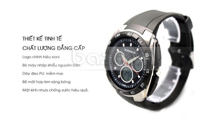 Đồng hồ thể thao Xonix DM kính nhựa thiết kế tinh tế