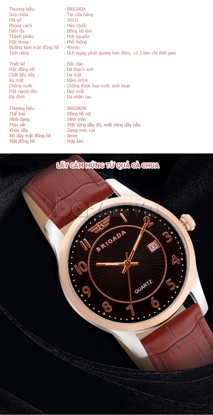 Đồng hồ Brigada 3011
