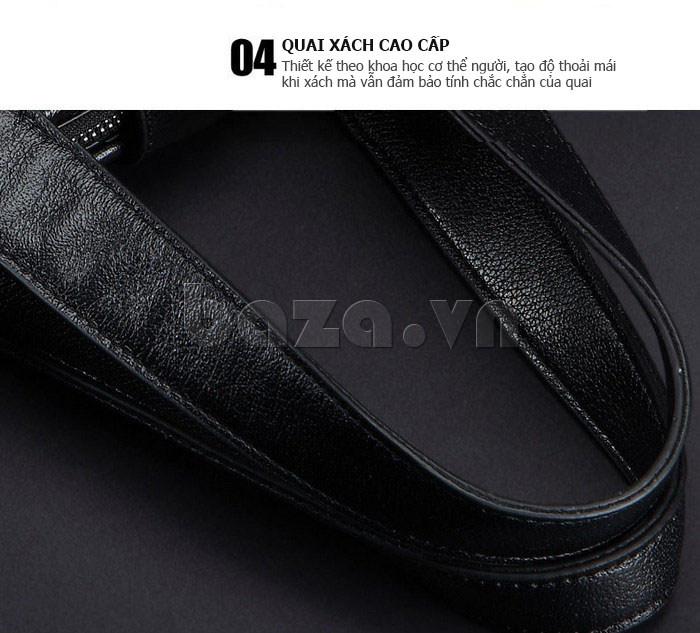 Túi da nam Feger 632-2 khóa nam châm từ tính hiện đại
