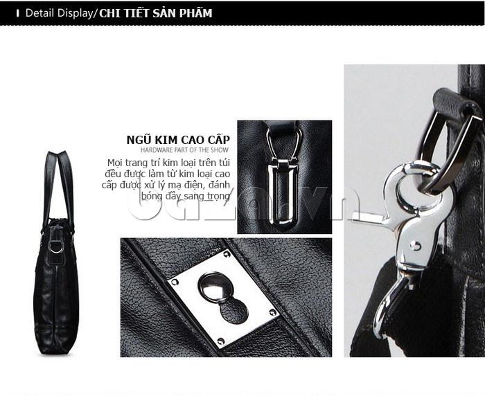 Túi da nam Feger 632-2 khóa nam châm từ tính bán chạy