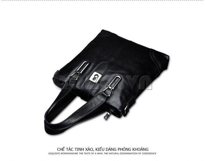 Túi da nam Feger 632-2 khóa nam châm từ tính chính hãng