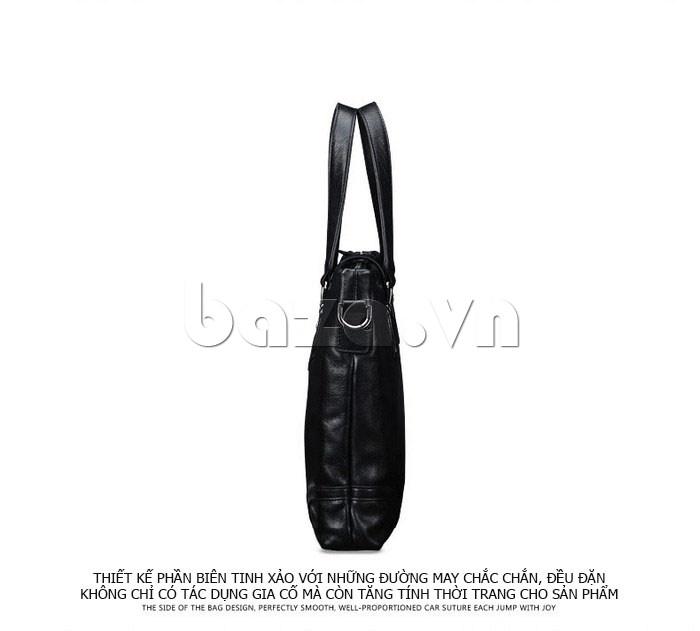 Túi da nam Feger 632-2 khóa nam châm từ tính cuốn hút