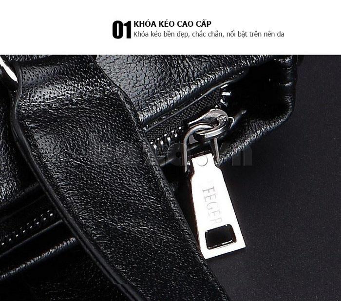 Túi da nam Feger 632-2 khóa nam châm từ tính tinh tế, tinh xảo