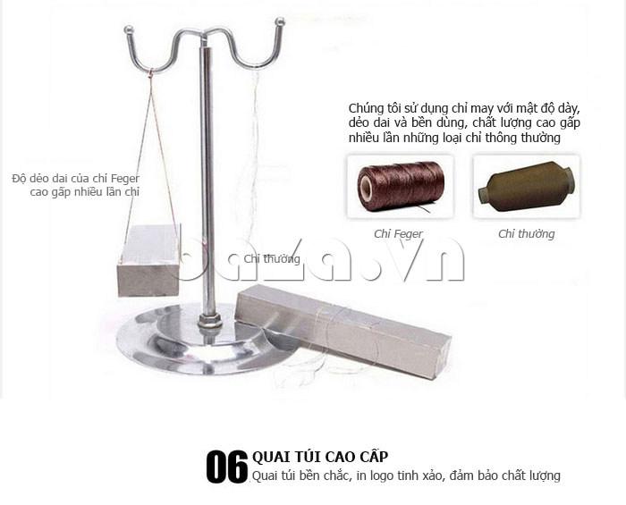 Túi da nam Feger 632-2 khóa nam châm từ tính đẳng cấp phái mạnh