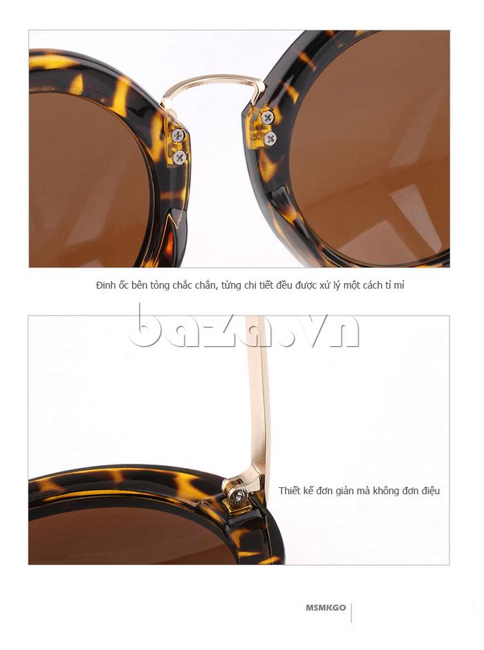 Kính nữ mắt tròn MSMK 1342 - thiết kế đơn giản