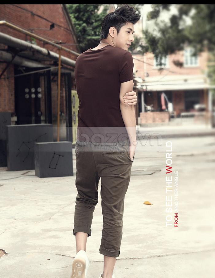 Áo T-shirt nam Sinhillze kiểu dáng cổ điển có thể mặc đi chơi, đi dạo phố...