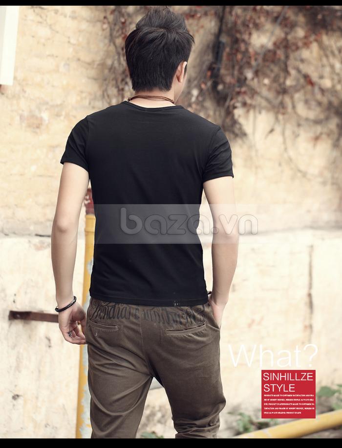 Áo T-shirt nam Sinhillze kiểu dáng cổ điển sang trọng hơn cùng chiếc áo thun cao cấp