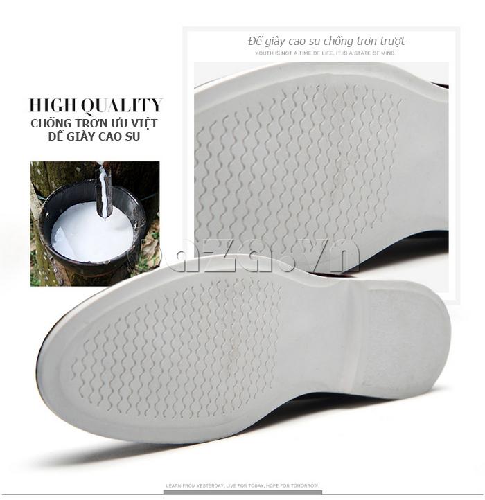 Giầy nam Simier 8111 - đế giày cao su nguyên chất