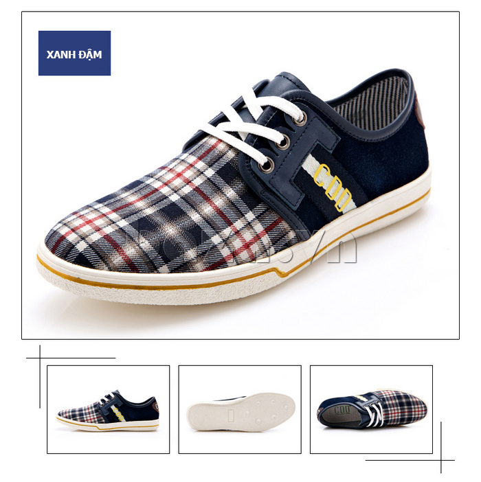 Giày nam CDD 1668 màu xanh đậm thời trang