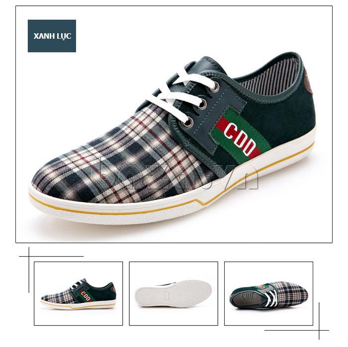 Giày nam CDD 1668  màu xanh lục trẻ trung