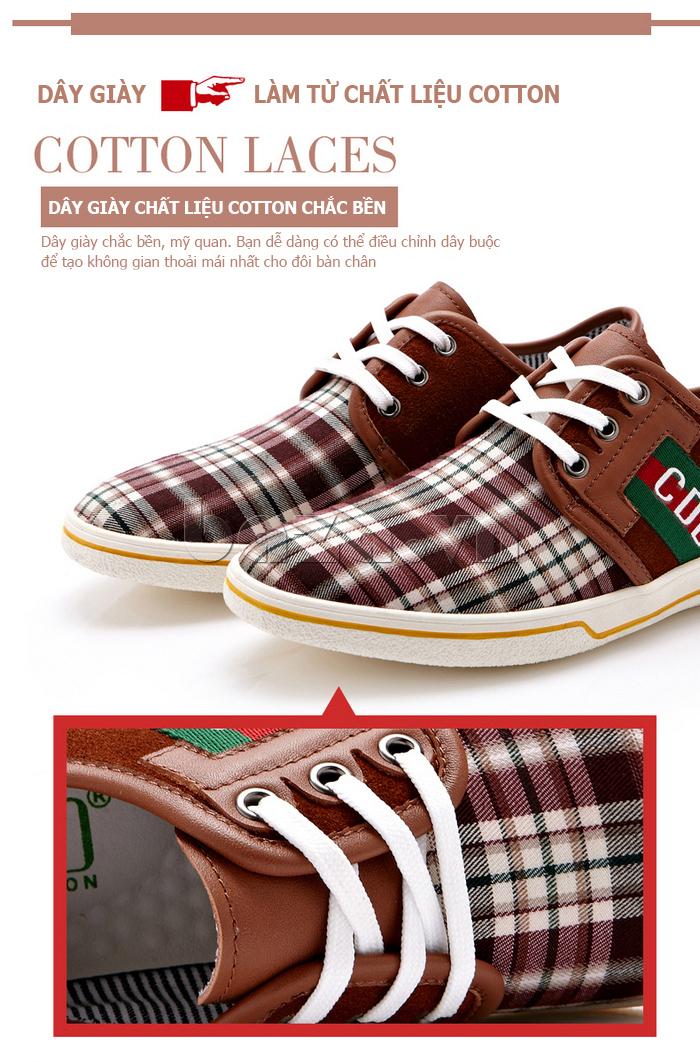 Giày nam CDD 1668  dây giày cotton bền đẹp