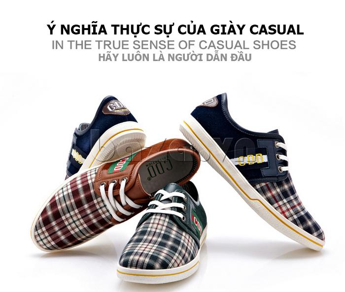 Giày nam CDD 1668 thiết kế đơn giản nhưng tinh tế
