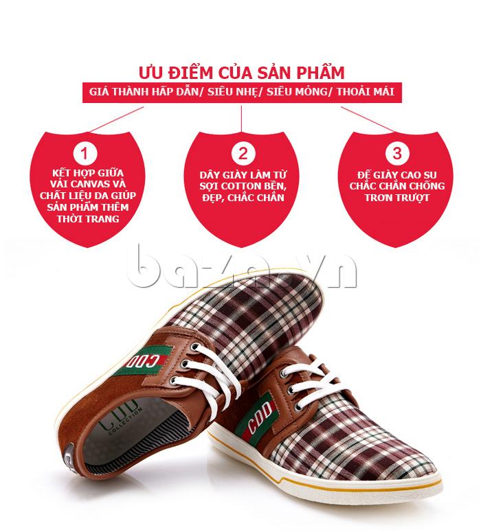 Giày nam CDD 1668  giá thành hấp dẫn