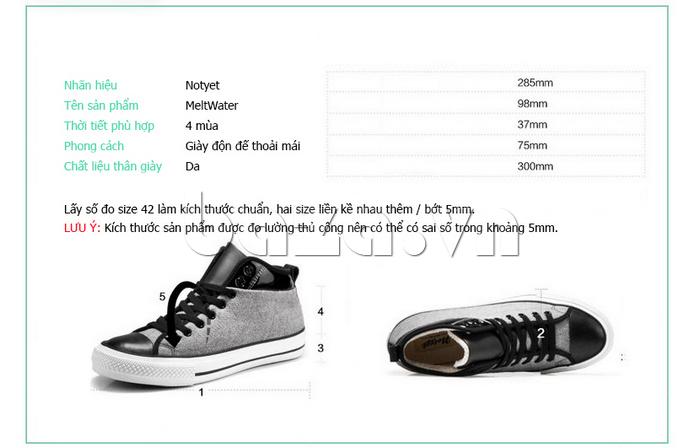 Giày vải nam Notyet NY-FS3313 cá tính