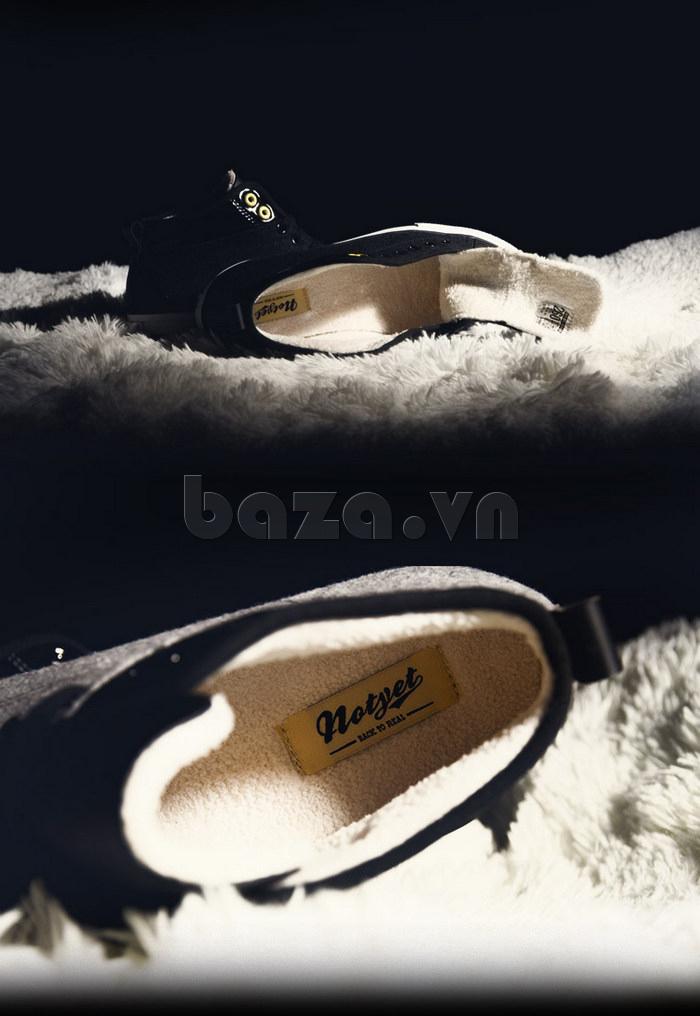 Giày vải nam Notyet NY-FS3313 sử dụng lớp lót bông bên trong