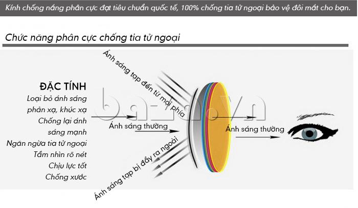 Kính nữ Q&J 20311x vòng tròn kim loại có tác dụng chống tia tử ngoại