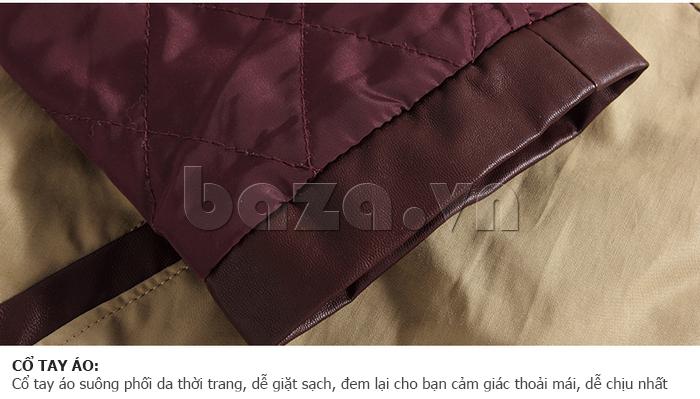Cổ tay áo suông phối da thời trang, dễ dàng giặt sạch