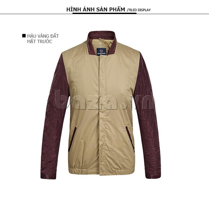 áo khoác nam No1Dara WTN38503 màu vàng đất mặt trước