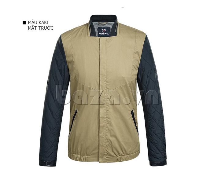 áo khoác nam No1Dara WTN38503 màu kaki mặt trước