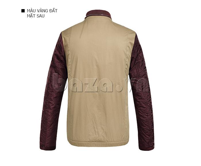 áo khoác nam No1Dara WTN38503 màu vàng đất mặt sau