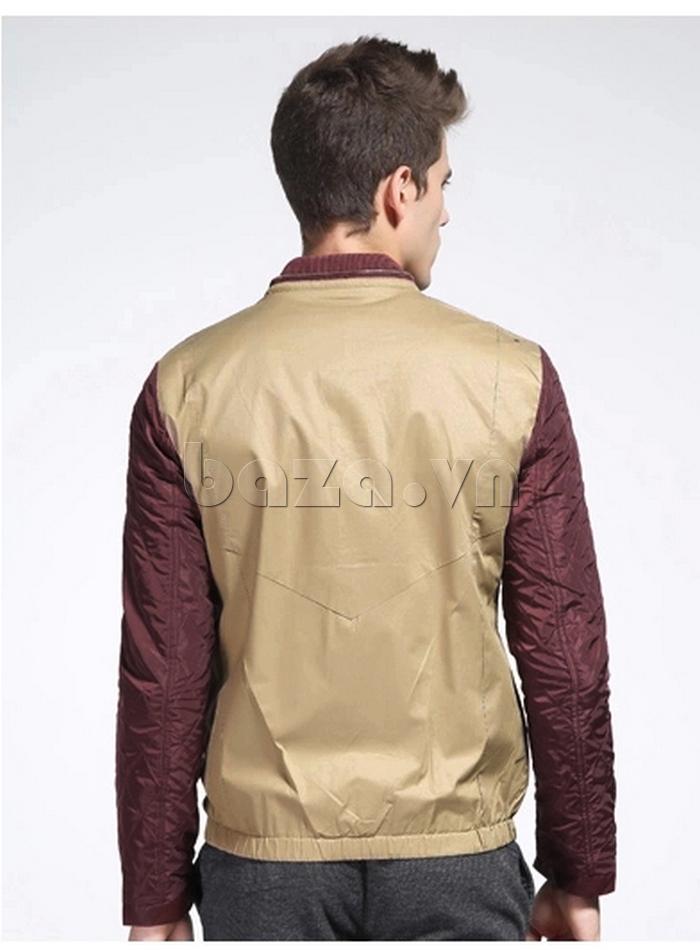 áo khoác nam No1Dara WTN38503 thiết kế lưng áo gọn gàng